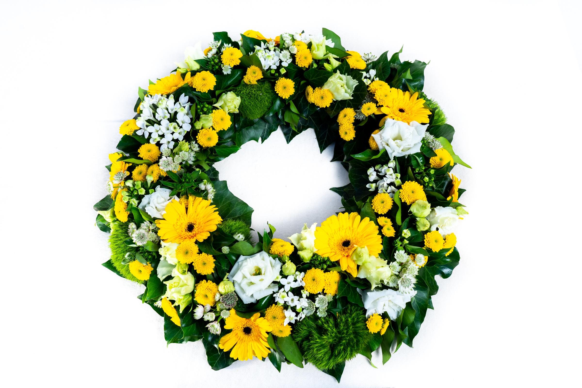 Blumenkranz Gelb/Weiß