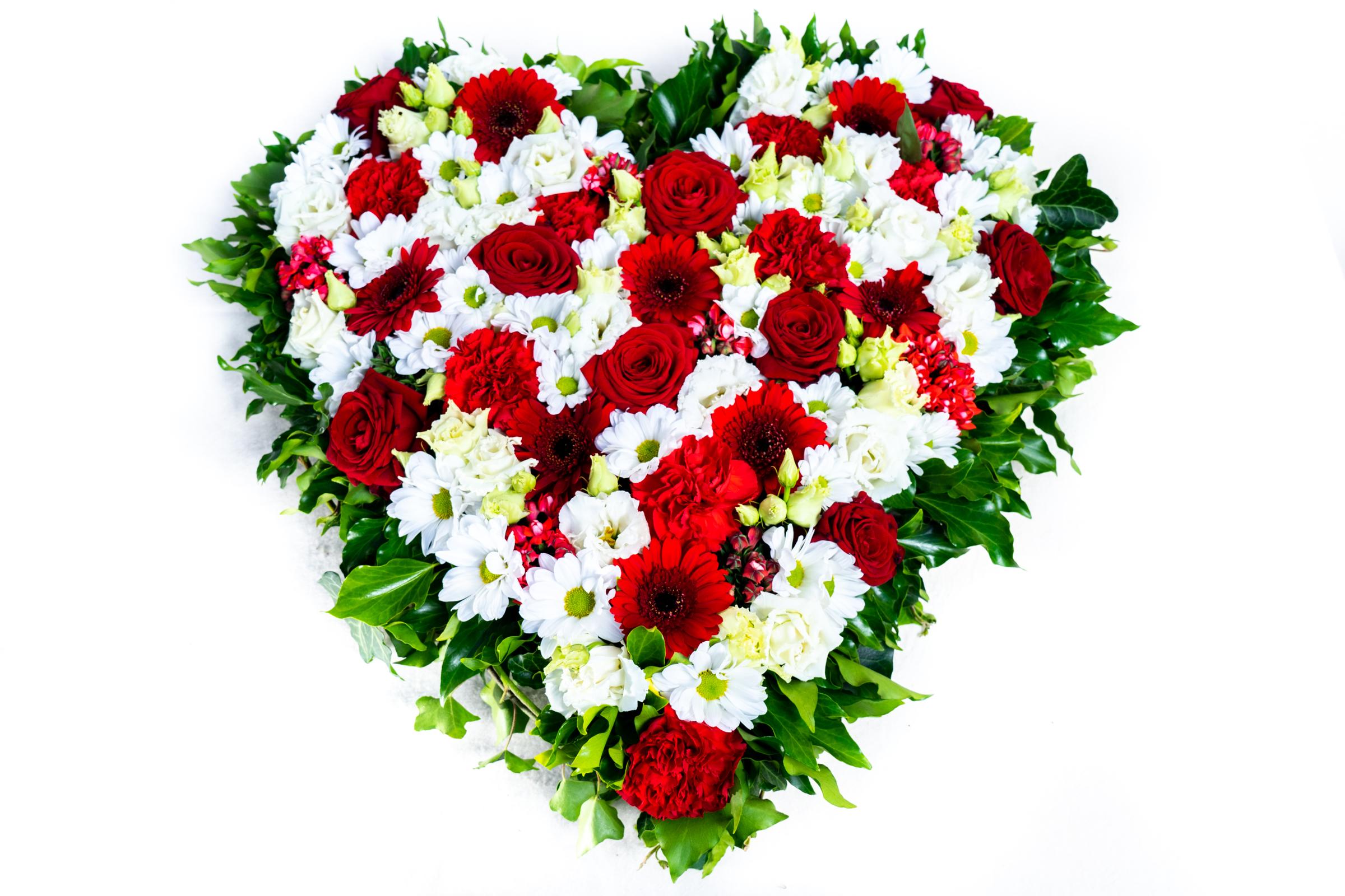 Herz aus Blumen Gelb